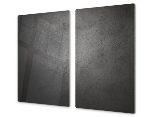 Verre à découper planche induction plaque chauffante en céramique Couvercle Plan De Travail économiseur 2x 30x52cm