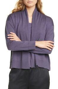 Eileen-Fisher-Women-s-Wool-Open-Front-Cardigan-Sweater-Large-NWT-N3315-248