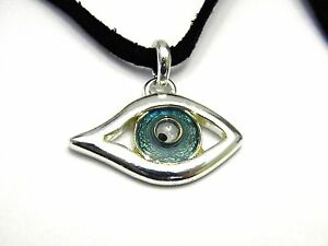 Vintage-Fun-Aqua-Blue-Evil-Eye-Pendant-Necklace