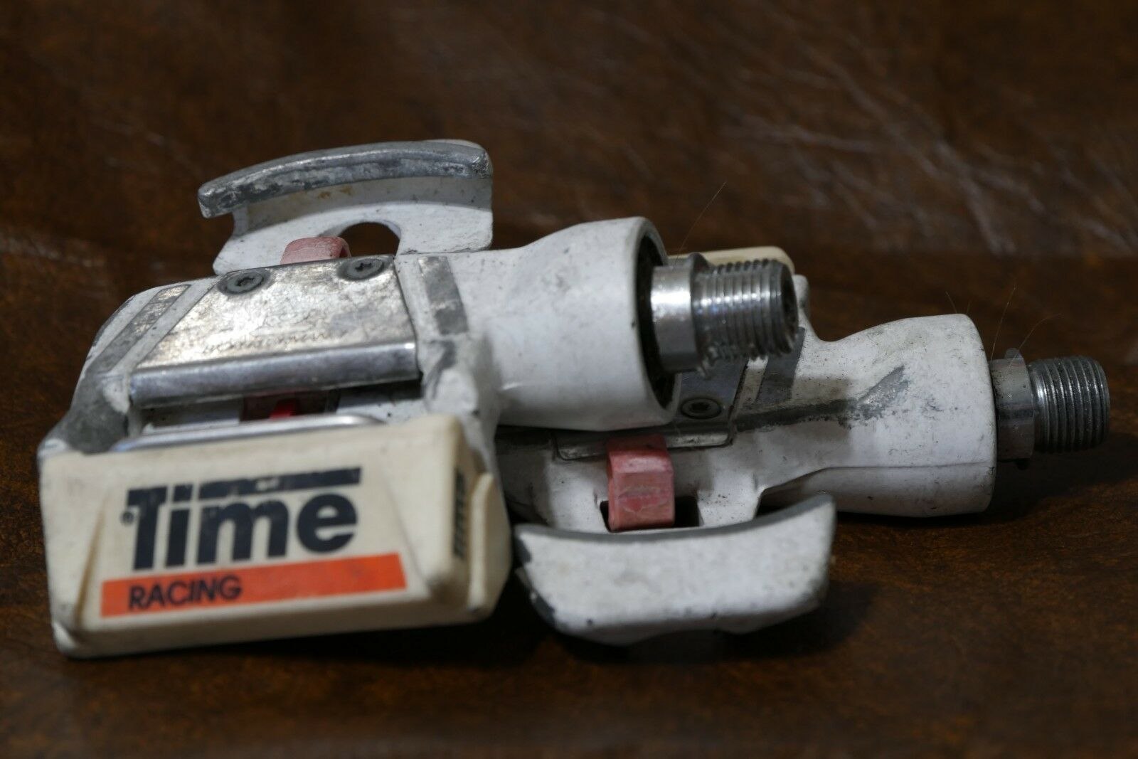 Used Time Multireflex  Racing White Clipless Pedals  best quality