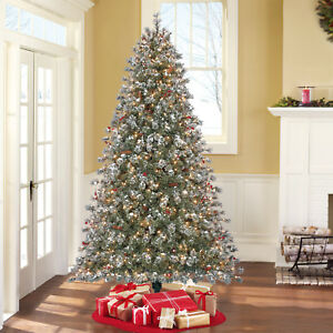 image is loading 7 5 039 flocked covington fir green artificial - 7 Christmas Tree
