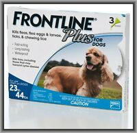 Merial Frontline Plus Flea & Tick Control For Midium Dogs 23-44 Lbs For 3 Month