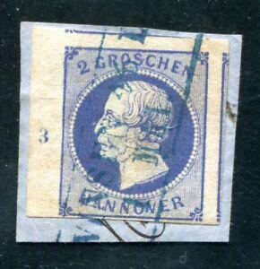 Hannover 1859 15 timbrato + contatore delle serie (k7796