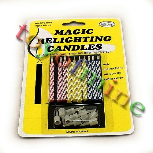 Charming Party Magic Set - Magic Relighting Candles For Birthday Fun