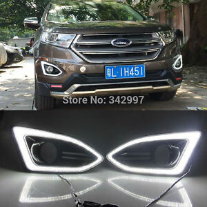 2x White Led Drl Driving Daytime Running Day Fog Lamp For