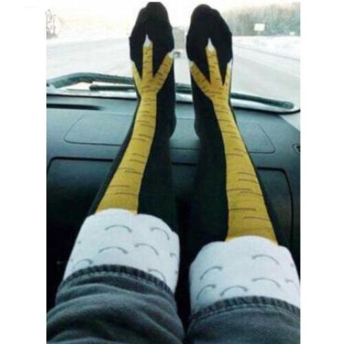 Funny 3D Chicken High Socks Cartoon Animals Thigh Stockings Creative Womens Men