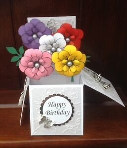 flower themed birthday //mothers day //any occasion pop up card
