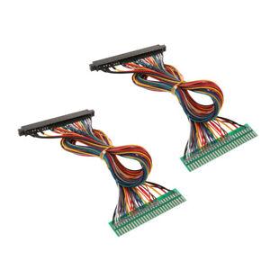2pcs-28P-jamma-Harnais-De-Fils-de-cablage-EXTENSION-Cables-pour-jeu-d-039-ARCADE-MACHINE