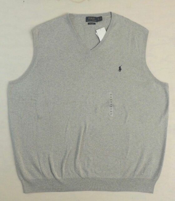 Sweater Big Mens V Neck Lauren Vest Ralph Size Polo And Gray Tall 2xlt vm8nNw0O