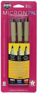 Sakura-Micron-PN-Pigma-Pens-3-Colors-Set-Durable-Plastic-Nibs-Archival-Ink-45mm