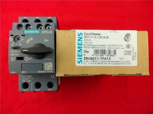 1Pcs New Siemens Circuit Breakers 3RV6011-1FA15 3.5-5.0A