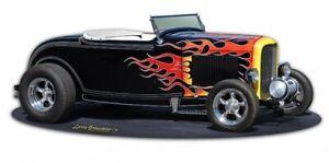 1932-Ford-Deuce-Roadster-Hot-Rod-Plasma-Cut-Metal-Sign-Retro-Blechschild-Schild