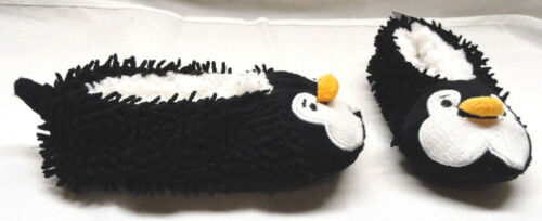 TODDLER BOYS OR GIRLS SHERPA LINED PENGUIN COZIES//INDOOR SLIPPERS SIZE MED 13//1
