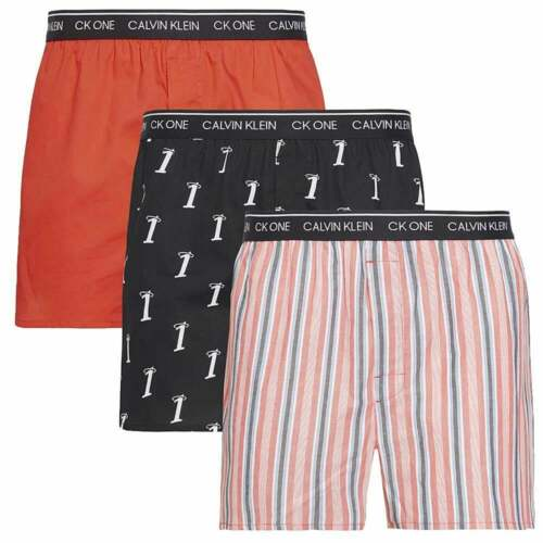 Numero 1//Adrenaline Rush//Variety St CK One Slim Fit Woven Boxer 3-Pack