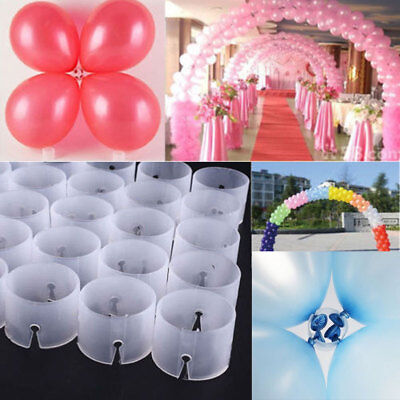 US Balloon Arch Stand Connectors Clip Ring Buckle Wedding Birthday Party Decor