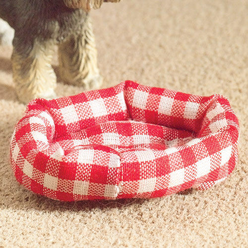 Dolls House 5776 rembourrés lit pour chien de tissu 1:12 pour maison de poupée NOUVEAU #