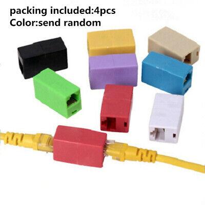 4Pcs RJ45 Lan Linking Cable Extender Network Ethernet Coupler Ethernet Adapter