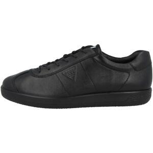 Schwarz Schuhe Sneaker Halbschuhe Gr44 Leder Ecco