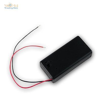Batteriefach 9 V Batteriehalter für 9V-Block im Gehäuse mit Ein-Aus Schalter