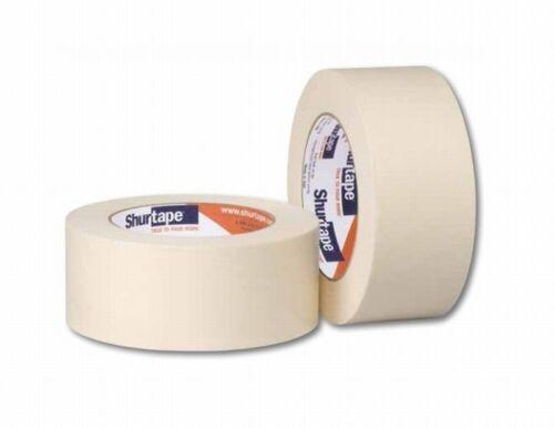 Shurtape 100530 6 Pack CP-83 1in x 60yd Crepe Masking Tape Tan