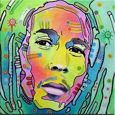 "Bob Marley Oil Painting on Canvas Pop Art Reggae Star Portrait Music 28x28"""