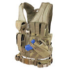 CONDOR TAN CVXL X-Draw MOLLE LE Tactical Rig Vest Magazine Gun Pouch Gear XL/XXL