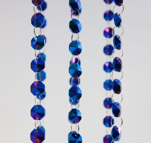 18mm en verre 1 mètre long de 17 couleurs arbre de cristal Crystal Guirlande brins 14mm