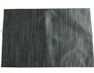 Halloween-Placemats-Black-Metallic-Silver-Set-of-4-Fabric-Satin-Classic-Striped