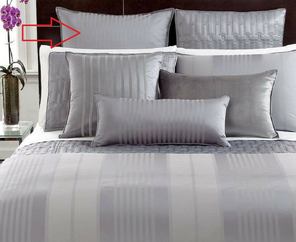 Hotel Collection Classic Stripe Grey King Pillowsham