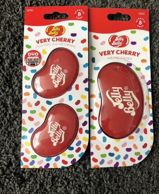 JELLY BELLY BEAN SWEET 3D HANGING VENT SET CAR SCENT AIR FRESHENER VERY CHERRY
