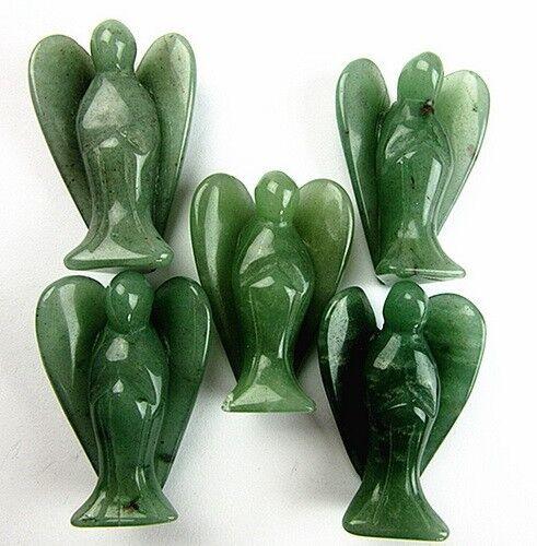 50x32x17mm 5PCS green aventurine carved angel furnishing articles VK10990