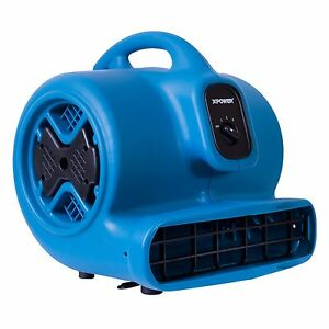 XPOWER P-630 1/2 HP 2800 CFM 3 Speed Air Mover Carpet Dryer Floor Fan Blower