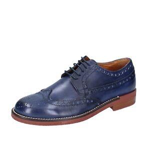 Detalles de Para Hombres Zapatos BIGOTTI 8 (EU 41) Elegante Azul Cuero BP414 41 ver título original