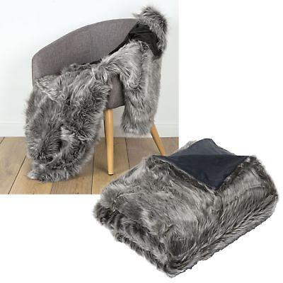 Luxury Soft Faux Fur Mink Animal Bed Sofa Lounge Throw Blanket Runner 127x152cm