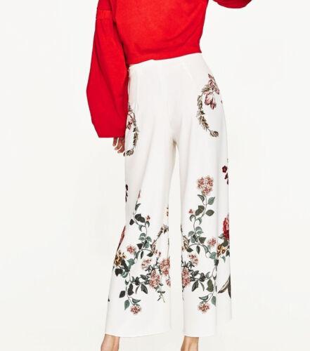 Zara Imprim Culotte Zara Woman Woman Blanc v1UxdWyZw