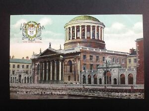 Ireland, FOUR COURTS (LAW) DUBLIN Original Colour Postcard