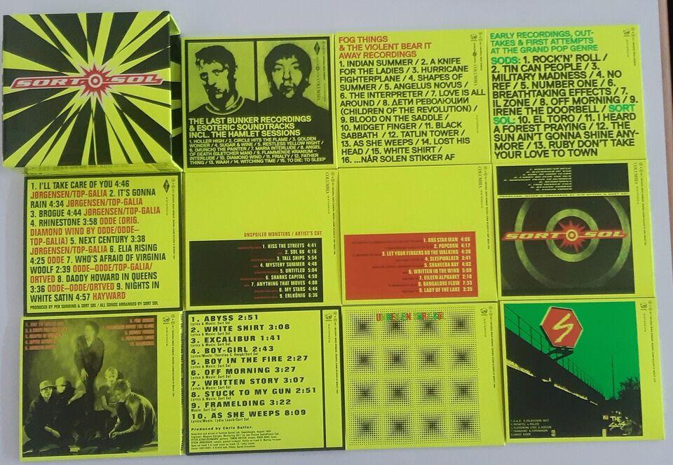 Sort Sol: Boks ... med 11 cd'er, punk