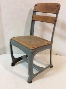 School chair back Ergonomic Image Is Loading Vtgmetalwoodschoolchairstudent11034 Ebay Vtg Metal Wood School Chair Student 11