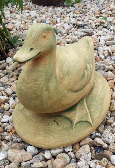 Gartenfigur  Ente     31 cm Gartendeko Steinguss Tierfigur Vogel Teichfigur 6f6e76