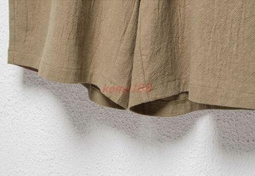 New Casual Mens summer loose linen blend breathable shorts casual pants plus sz
