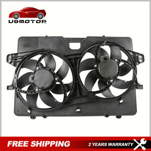 Radiator Dual Cooling Fan Assembly for 08-12 Ford Escape Mercury Mariner 3.0L V6