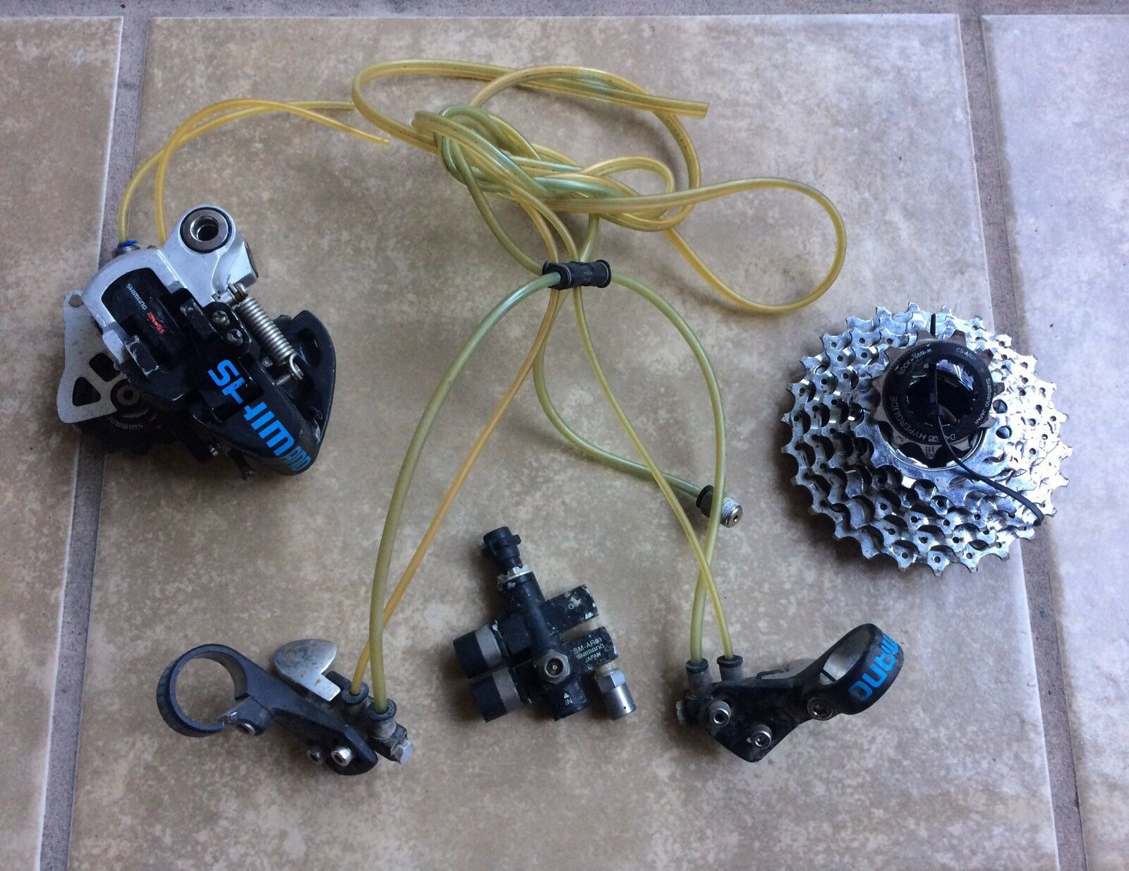 Shimano Airlines RearShifterSet 7Speed  Rare Pneumatic Please Read  perfect