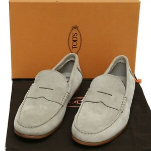 60f2bbe3f2a New TOD'S Gray Suede Leather Moccasins Loafer Shoes Men UK7 US8 EU41 ...