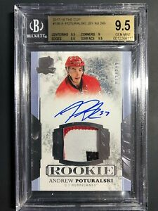 2017-18-The-Cup-Andrew-Poturalski-Rookie-Patch-Auto-249-BGS-9-5-10-Auto
