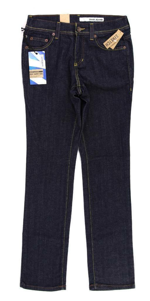 DKNY Skinny Dark Navy bluee Jeans, Regular Fit, Size 6R Women's KCMU5835 NWT