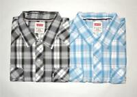 Levi's Men's Western L/S Light Blue and Charcoal Shirts