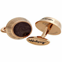 Montegrappa Miya Rose Gold Brown Enamel Cufflinks Idmyclmr Made In Italy on sale