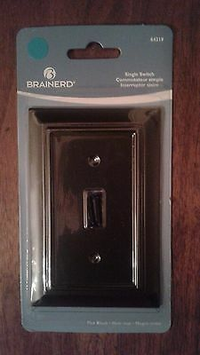 New Eagle Black Three Way Quite Rocker Wall Light Switch and Wall Plate C6653BK