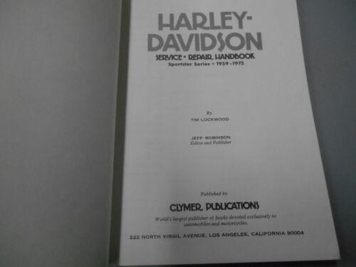 NOS Harley Davidson Clymer Service Repair Handbook Manual 59-75 Sportster M419