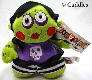 Zombiology Girl Ganz Plush Toy Stuffed Doll Purple Green Zombie Soft BNWT